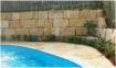 Retaining Sandstone Blocks Installation
